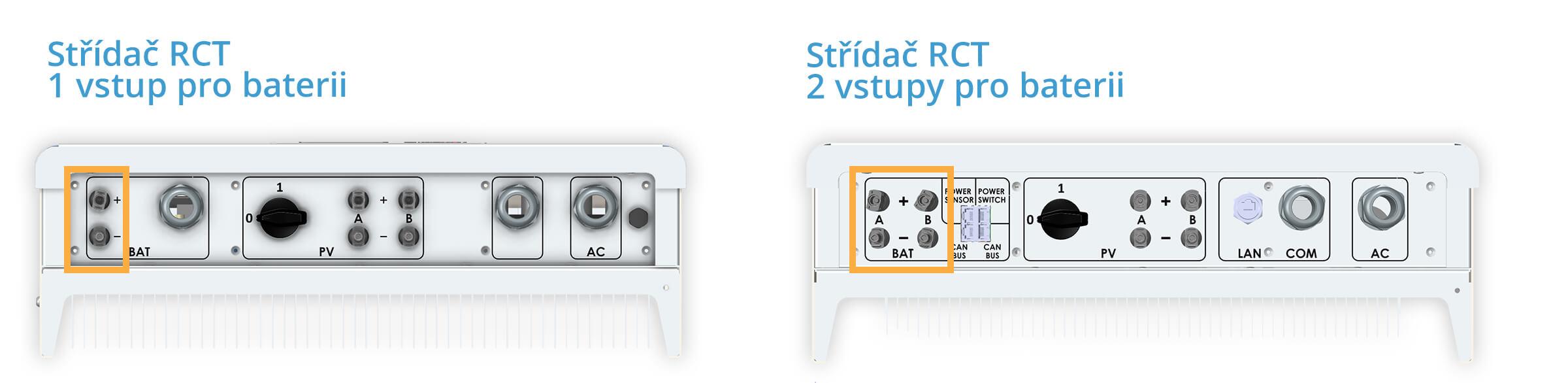RCT vstupy baterie
